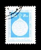 Astrolabio Arabo-islamico, serie di archeologia, circa 1978 Fotografie Stock