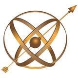Astrolabio del metal Imagen de archivo