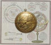 Astrolabio medieval Imágenes de archivo libres de regalías