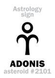 Astrología: ADONIS asteroide stock de ilustración