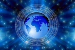 Astrología del mundo ilustración del vector
