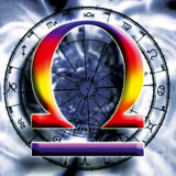Astrología: libra stock de ilustración