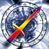 Astrología: sagitario stock de ilustración