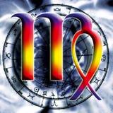 Astrología: virgo ilustración del vector