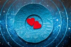 Astrología y amor stock de ilustración
