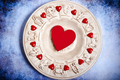 Astrología y amor foto de archivo libre de regalías