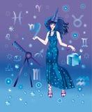 astrologa charakteru znaka virgo zodiak Zdjęcia Stock