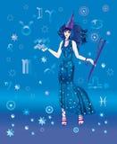 astrologa szyldowy waterbearer zodiak Obrazy Stock