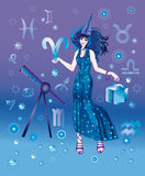 Astrologer with sign of zodiac of Ariesi character Royalty Free Stock Photo
