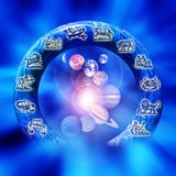 astrologi vektor illustrationer