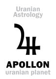 Astrologi: APOLLON ( uranian planet) vektor illustrationer