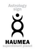 Astrologi: planet HAUMEA Royaltyfri Bild