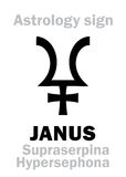 Astrologi: planet JANUS Royaltyfri Foto