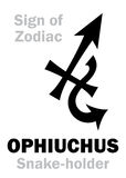 Astrologi: Tecken av zodiak OPHIUCHUS Orm-hållaren Arkivbilder
