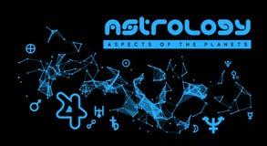 astrologia Aspekty planety ilustracja wektor
