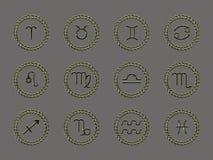 A astrologia assina (EPS+JPG) Imagem de Stock