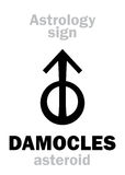 Astrologia: asteroide DAMOCLES Immagine Stock Libera da Diritti