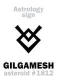 Astrologia: asteroide GILGAMESH royalty illustrazione gratis
