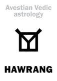 Astrologia: astralna planeta HAWRANG ilustracja wektor