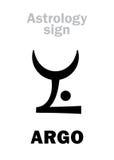 Astrologia: costellazione ARGO Argo Navis illustrazione vettoriale