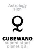 Astrologia: CUBEWANO Fotografie Stock Libere da Diritti