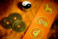 Astrologia de China Imagens de Stock