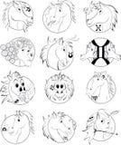 Astrologia dei cavalli Fotografia Stock