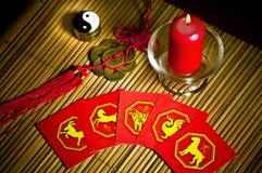 Astrologia della Cina immagine stock