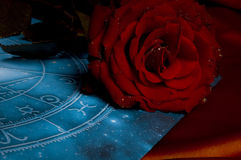 Astrologia e amor imagem de stock