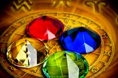 Astrologia e elementos Fotografia de Stock Royalty Free