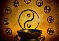 Astrologia e yin cinesi yang fotografia stock libera da diritti