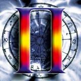 Astrologia: gemini ilustração royalty free