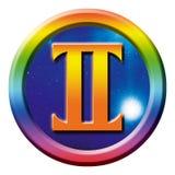 astrologia gemini znak ilustracji