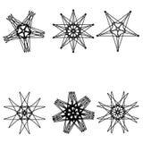 Astrologia geometrycznego wzoru ustalony pentogramm Zdjęcie Stock