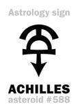 Astrologia: gwiaździsty ACHILLES ilustracji