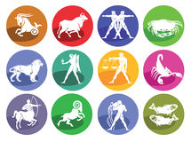 Astrologia horoskop, ikona royalty ilustracja