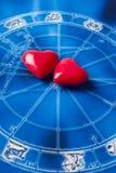 Astrologia i miłość Obrazy Royalty Free