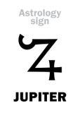 Astrologia: JÚPITER do planeta ilustração stock