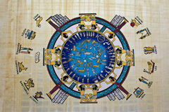 Astrologia Na papirusie Obraz Stock
