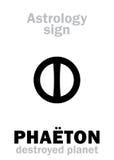 Astrologia: PHAETON destruído do planeta Foto de Stock