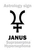 Astrologia: planeta JANUS Zdjęcie Royalty Free