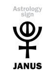 Astrologia: planeta JANUS Zdjęcia Royalty Free