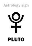 Astrologia: PLUTONE del pianeta Fotografia Stock