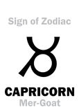 Astrologia: Segno del CAPRICORNO dello zodiaco la MER-capra Fotografia Stock Libera da Diritti