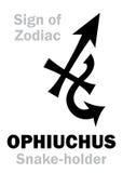 Astrologia: Segno di zodiaco OPHIUCHUS il Serpente-supporto Immagini Stock