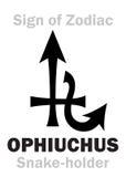 Astrologia: Segno di zodiaco OPHIUCHUS il Serpente-supporto Immagini Stock Libere da Diritti