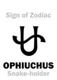 Astrologia: Segno di zodiaco OPHIUCHUS ( Lo Snake-holder) Fotografia Stock Libera da Diritti