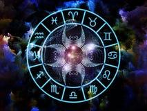 astrologia skład royalty ilustracja