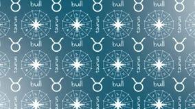 Astrologia szyldowy byk ilustracja wektor