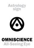 Astrologia: WSZECHWIEDZY wszystkowidzący oko   Oko opatrzność Obrazy Royalty Free